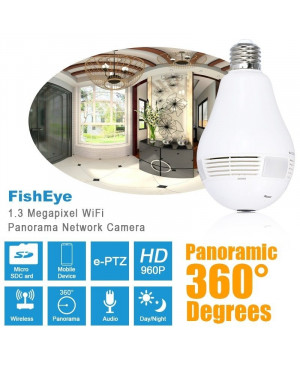 Panoramic Wifi Light Bulb Camera